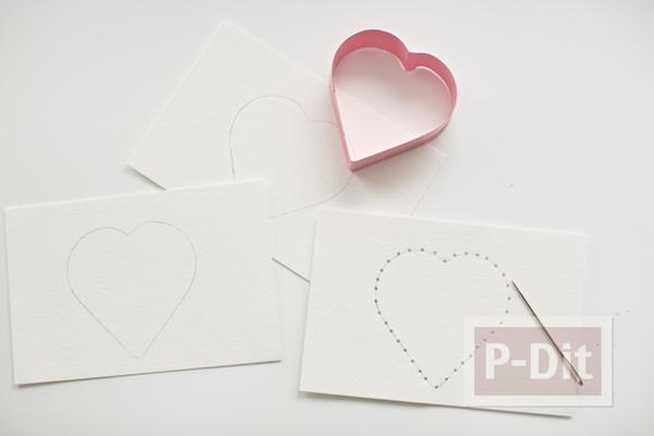 รูป 3 ส่งความรักวันวาเลนไทน์ ถักการ์ดรูปหัวใจ