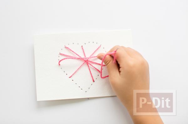 รูป 4 ส่งความรักวันวาเลนไทน์ ถักการ์ดรูปหัวใจ