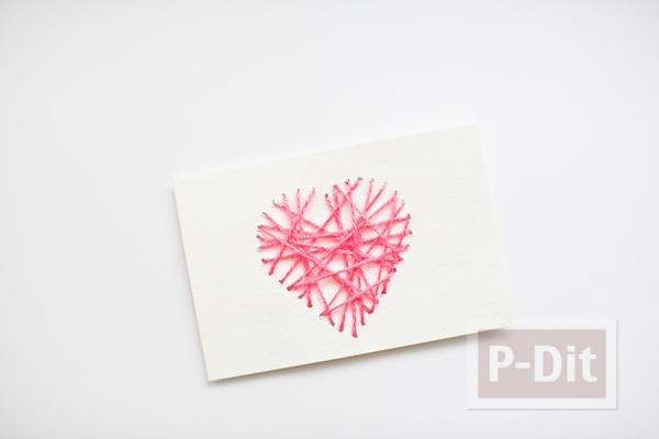 รูป 6 ส่งความรักวันวาเลนไทน์ ถักการ์ดรูปหัวใจ