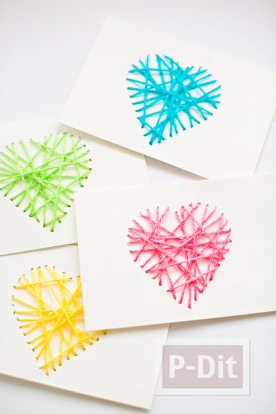 รูป 7 ส่งความรักวันวาเลนไทน์ ถักการ์ดรูปหัวใจ