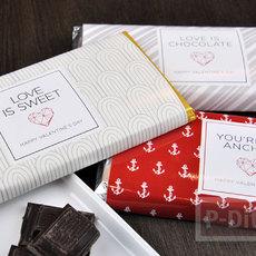 ห่อช็อคโกแลตด้วย กระดาษลายสวย