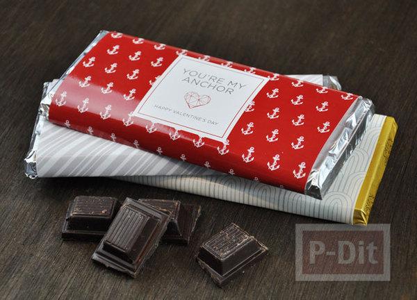 รูป 3 ห่อช็อคโกแลตด้วย กระดาษลายสวย