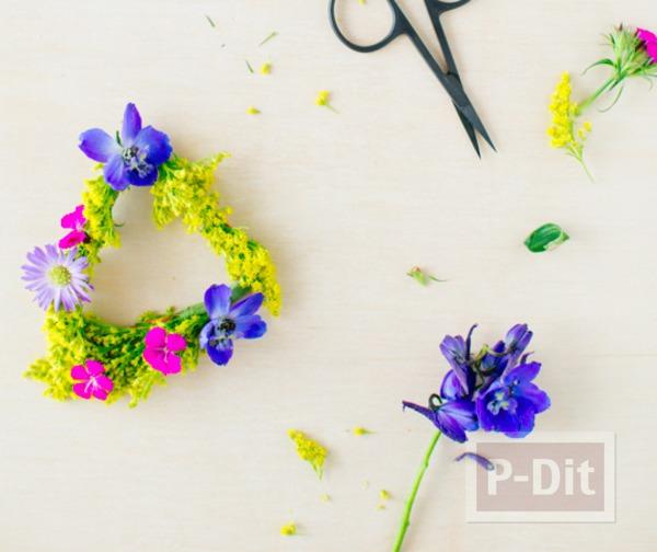 รูป 7 สร้อยข้อมือสวยๆ ทำจากดอกไม้สีสวย สดใส