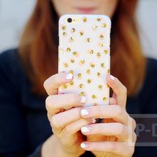 เคสไอโฟนตกแต่งลายสวย ด้วยสีทาเล็บ กระดาษทองสวยๆ