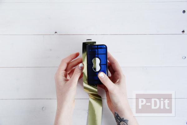 รูป 5 เคสไอโฟนตกแต่งลายสวย ด้วยสีทาเล็บ กระดาษทองสวยๆ