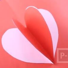การ์ดวาเลนไทน์ ป๊อปอัพ หัวใจส่งรัก