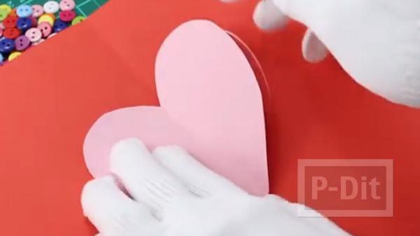 รูป 6 การ์ดวาเลนไทน์ ป๊อปอัพ หัวใจส่งรัก