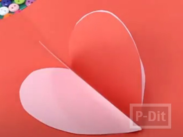 รูป 7 การ์ดวาเลนไทน์ ป๊อปอัพ หัวใจส่งรัก
