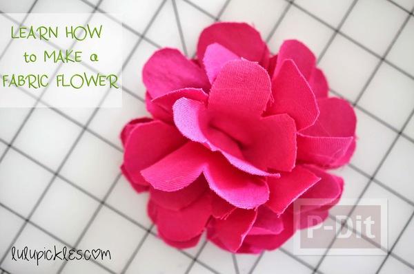 ดอกไม้ผ้า สีสวย ตัดตามแบบ