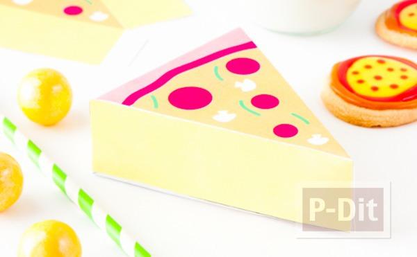 กล่องใส่พิซซ่า น่ารักๆ ปริ้นจากกระดาษ