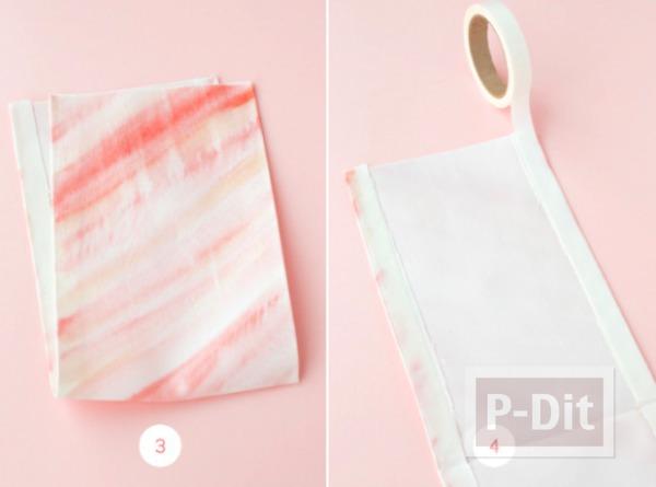รูป 3 ถุงของขวัญสวยๆ ทำจากผ้า ผูกโบว์