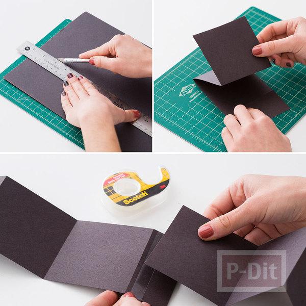 รูป 4 สอนทำกล่องใส่รูป เป็นของขวัญสวยๆ
