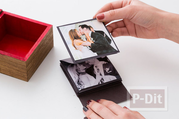 รูป 6 สอนทำกล่องใส่รูป เป็นของขวัญสวยๆ