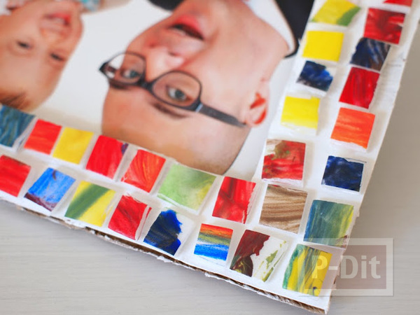 รูป 4 กรอบรูปทำจากกระดาษลัง ประดับลายสวย