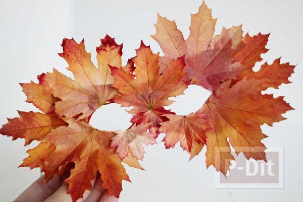รูป 4 หน้ากาก ทำจากใบไม้ สีสด