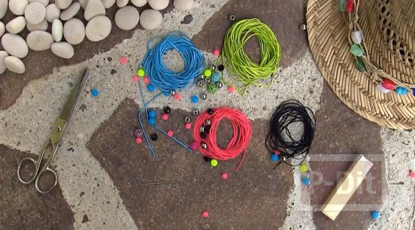 รูป 2 สอนถักสร้อยข้อมือ ลูกปัดสีสวย กับเชือกสีสด