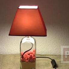 โคมไฟประดับบ้าน ทำจากขวดแก้ว