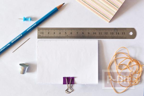 รูป 4 สอนเย็บสมุดโน๊ต จากเชือกเส้นเล็กๆ