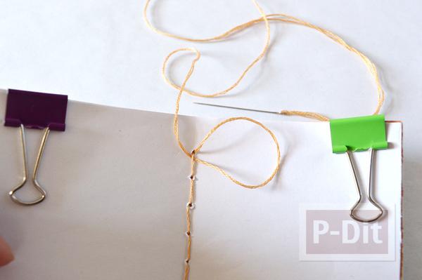 รูป 7 สอนเย็บสมุดโน๊ต จากเชือกเส้นเล็กๆ