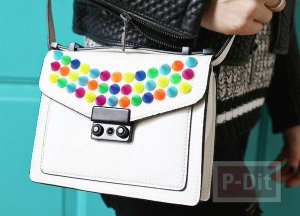 รูป 1 กระเป๋าถือ ประดับเม็ดสวย หลากสี