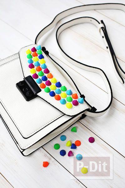 รูป 4 กระเป๋าถือ ประดับเม็ดสวย หลากสี