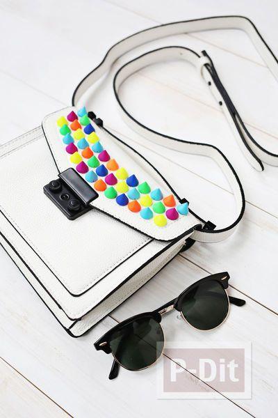 รูป 5 กระเป๋าถือ ประดับเม็ดสวย หลากสี