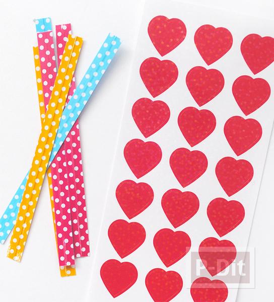 รูป 4 สอนทำที่รัดถุง จากขวดประดับลายน่ารัก ติดหัวใจดวงเล็กๆ