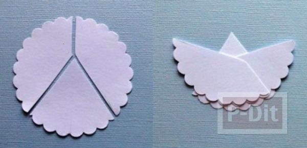 รูป 2 ตัดกระดาษ เป็นรูปนางฟ้าตัวเล็กๆ ประดับบอร์ด