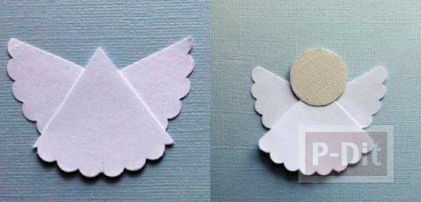 รูป 3 ตัดกระดาษ เป็นรูปนางฟ้าตัวเล็กๆ ประดับบอร์ด