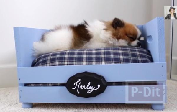 รูป 1 สอนทำเตียงหมา แมว ตัวเล็กๆ จากลังไม้