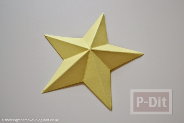 รูป 7 พับดาวกระดาษ ประดับบอร์ด