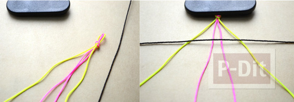 รูป 3 สอนทำสร้อยข้อมือสวยๆ จากเชือกสีสดใส