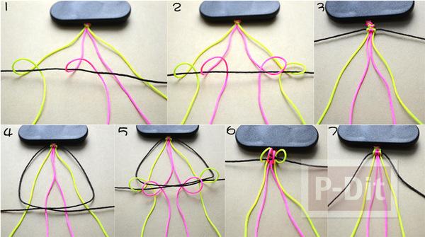 รูป 4 สอนทำสร้อยข้อมือสวยๆ จากเชือกสีสดใส