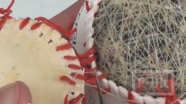 รูป 3 พวงกุญแจ ทำจากลูกเบสบอล