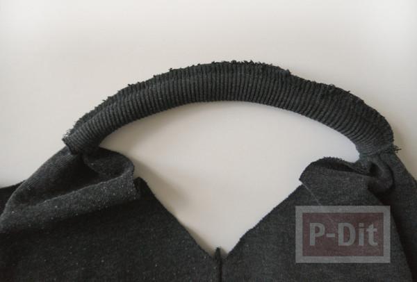 รูป 3 ถุงผ้า ทำจากเสื้อยืดเก่าๆ