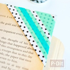 ที่คั่นหนังสือ ทำจากซองจดหมายเก่าๆ