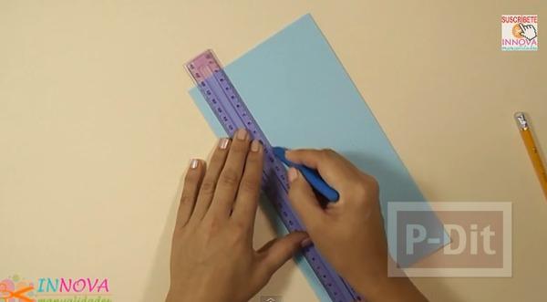 รูป 4 ทำที่ใส่ดินสอจากกระดาษลูกฟูก ทรงหกเหลี่ยม