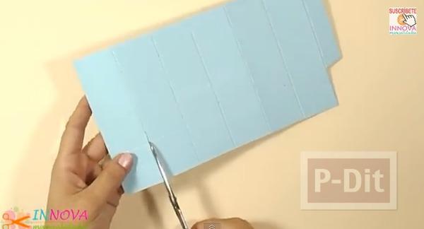 รูป 6 ทำที่ใส่ดินสอจากกระดาษลูกฟูก ทรงหกเหลี่ยม