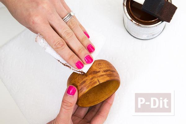 รูป 5 กำไลข้อมือสีไม้ ตกแต่งลายสวย แบบง่ายๆ