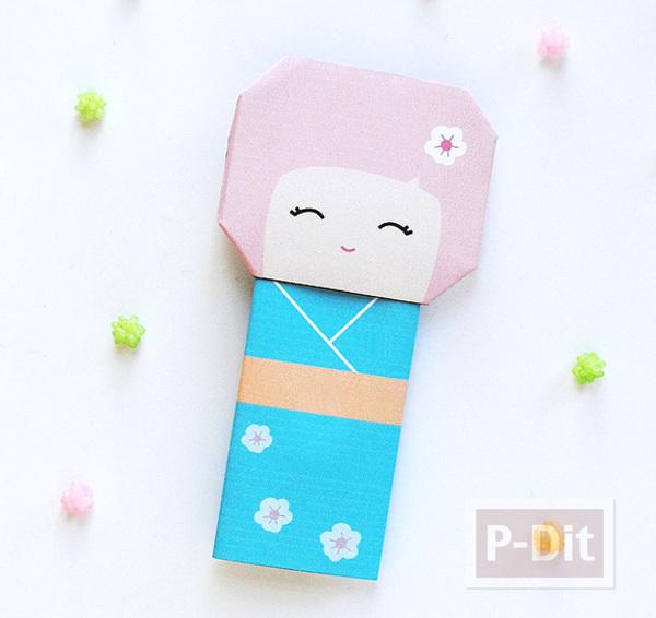 พับกระดาษ ตุ๊กตาญี่ปุ่นน่ารักๆ