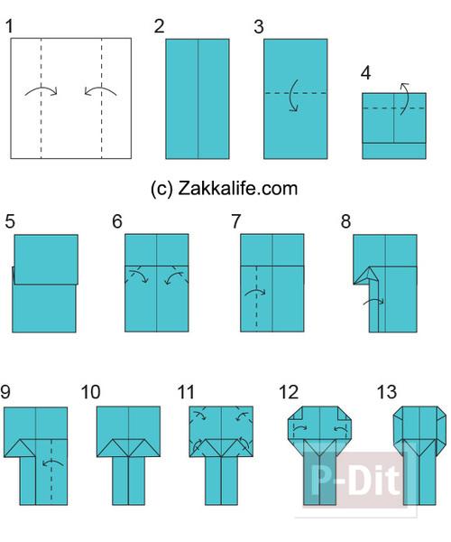 รูป 2 พับกระดาษ ตุ๊กตาญี่ปุ่นน่ารักๆ