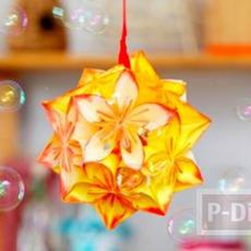 โคมไฟกระดาษ ดอกไม้
