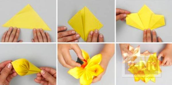 รูป 2 โคมไฟกระดาษ ดอกไม้