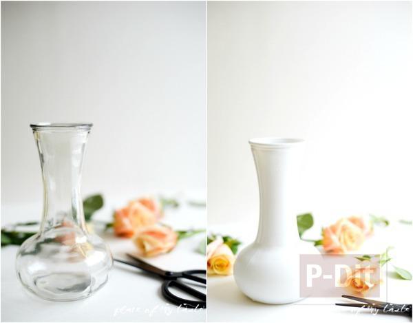 รูป 3 แจกันดอกไม้ ทาสีสวย สีทาเล็บผสมน้ำ