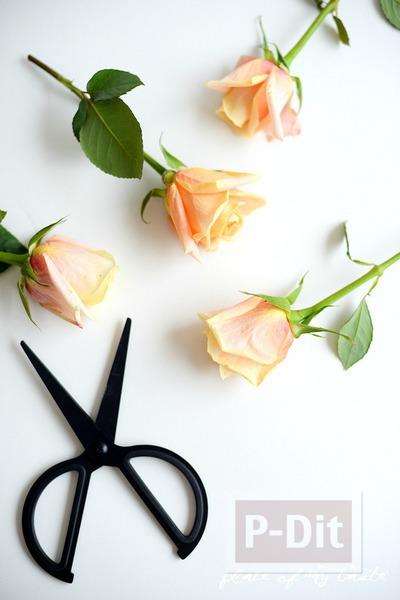 รูป 6 แจกันดอกไม้ ทาสีสวย สีทาเล็บผสมน้ำ