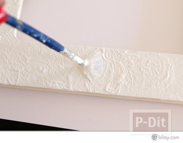 รูป 3 กรอบรูปตกแต่งสวยๆ พ่นสีทอง ประดับเม็ดพลาสติก