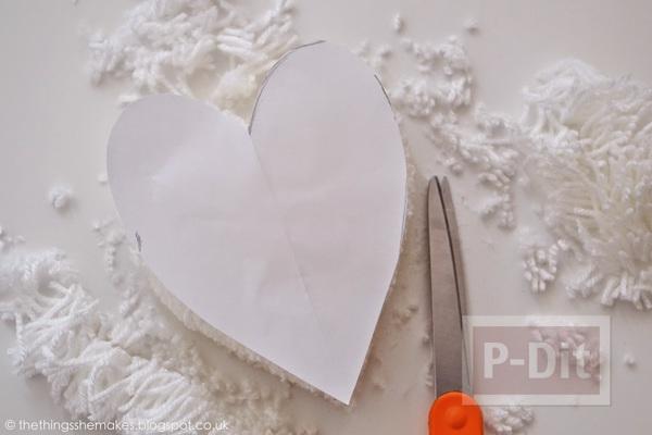 รูป 5 สอนทำหัวใจ จากไหมพรม