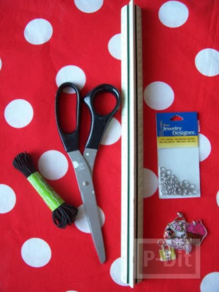 รูป 2 ที่คั่นหนังสือสวยๆ ทำจากเชือกและจี้ ลายน่ารัก