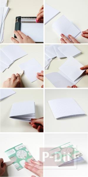 รูป 4 เย็บสมุดโน๊ตสวยๆ จากกระดาษเก่าๆ