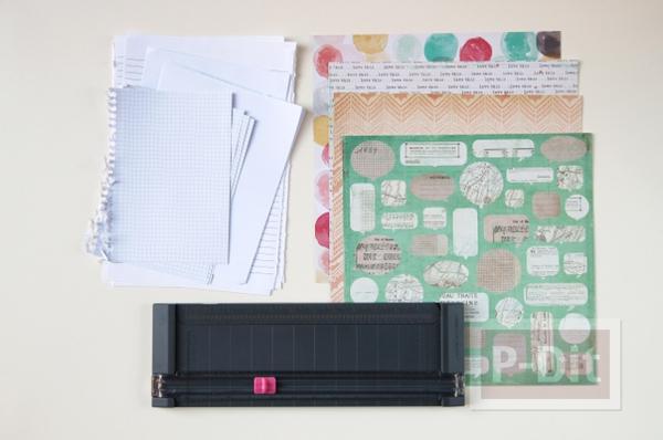 รูป 5 เย็บสมุดโน๊ตสวยๆ จากกระดาษเก่าๆ